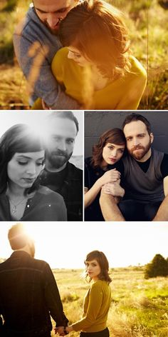 These photos remind me of the photo shoot at the beginning of P.S. I love you - definitely want engagement photos to look classic.