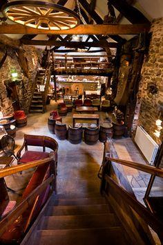 Barn converted into a bar.  Excellent idea!