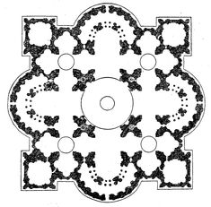 Churches and tetradic architecture: Greek Cross type.  The Greek cross with its equal arms refers, as has been stated earlier, to a balance in the division of the ground plan. This architectural equilibrium might reflect a similar mood or setting in ot…