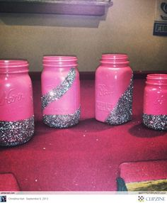 I love mason jar or beer bottle crafts! These would be so awesome to hold paint brushes, pencils for homework and more! Cute Crafts, Crafts To Do, Crafts For Kids, Mason Jars, Mason Jar Crafts, Glass Jars, Pinterest Diy Crafts, Do It Yourself Inspiration, Recycling