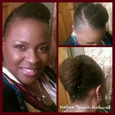 Easy protective style just using a banana clip and hairpins.