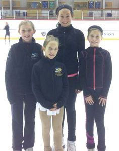 Delta Skating Club members Sarah Morrow, Zoe Lundgren, Daphne Brett and Darcy Brett competed at the recent Jingle Bells competition in South Surrey. Jingle Bells, Surrey, Figure Skating, Skate, Competition, Strong, Club