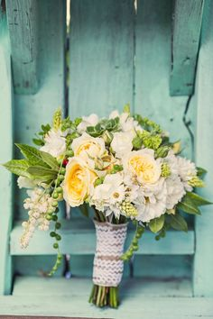 Soft colours and varying textures - this bouquet is to die for!