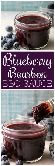 Blueberry Bourbon BBQ Sauce Pooks Pantry A sweet and spicy BBQ sauce made with fresh blueberries apple cider vinegar and bourbon Guaranteed to make your ribs sing Blueberry Bbq Sauce Recipe, Blueberry Recipes, Apple Bbq Sauce Recipe, Bourbon Sauce, Apple Recipes, Homemade Barbecue Sauce, Homemade Sauce, Salsa Dulce, Cheese