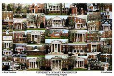 University of Mary Washington Campus Art Print