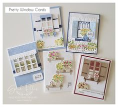 Make Your Own Card, Window Cards, Fancy Fold Cards, Mothers Day Cards, Card Tutorials, Creative Cards, Flower Cards, Stampin Up Cards, Handmade Crafts