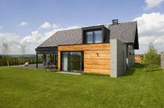 Modern residence located in Krakow. Architects: Studio S Biuro Architektoniczne Organic Modern, Krakow, Detached House, House Plans, Shed, Barn, Outdoor Structures, Exterior, House Design