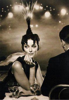 Carmen Dell'Orefice- by Richard Avedon for Harper's Bazaar, Paris Folies Bergère, 1957