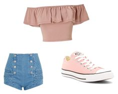 """""""Summer Thing"""" by mandieluver on Polyvore featuring Pierre Balmain, Miss Selfridge and Converse"""