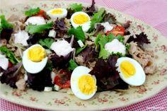 Ponto de Rebuçado Receitas: Salada de atum, massa e ovo