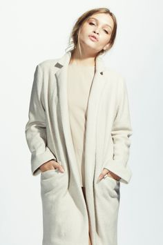 S O R E L L A Couture - Crombie Wool Coat – Ivory /White @ http://sorellacouture.com Designed By: Giolliosa + Natalie Fuller aka SisterStyling www.sisterstyling