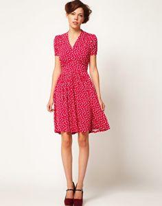 Enlarge A Wear Spot Leaf Tie Tea Dress