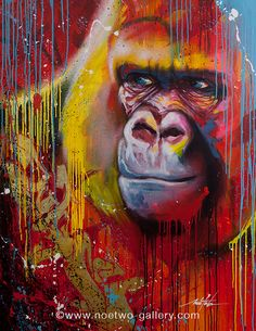 Noe Two, a graffiti and street-art artist in Paris GORILLAZ Looks like the gorilla from Tarzan 3d Street Art, Street Art Graffiti, Street Artists, Art Du Monde, Illustration Photo, Arte Pop, Gorillaz, Art Store, Animal Paintings