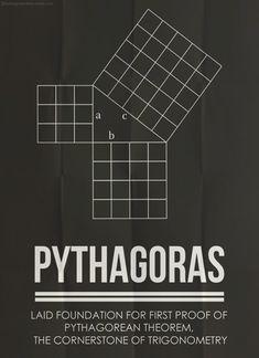 数学者の功績をスタイリッシュ&シンプルにあしらったポスター   IDEA*IDEA