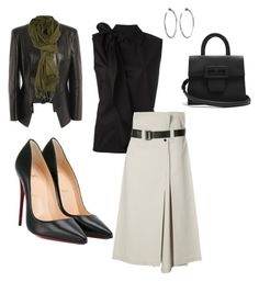 """""""Work"""" by cgraham1 on Polyvore featuring MM6 Maison Margiela, 132 5. Issey Miyake, Christian Louboutin, Maison Margiela, Alexander McQueen and Jennifer Fisher"""