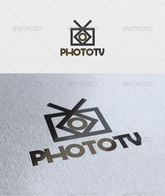Photo Tv  - Logo Design Template Vector #logotype Download it here: http://graphicriver.net/item/photo-tv-logo/2004882?s_rank=1755?ref=nexion