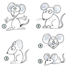 Drawing a nice looking cartoon mouse is really not difficult. Just take a quick look at this easy to follow tutorial and see for yourself!