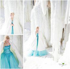 Frozen photo shoot by Wren Photography in Marquette, MI