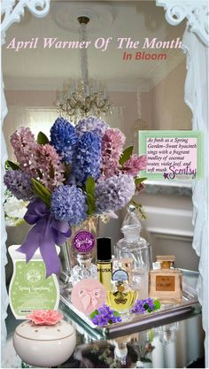 Scentsy April Warmer of the Month 2015: In Bloom/ Spring Symphony.IN BLOOM fills a space with a dreamy scent without the light. Conceals your most treasured fragrance and is perfect for bedrooms or an en suite bath. The scent is Spring Symphony: Sweet hyacinth sings with a fragrant medley of coconut water, violet leaf, and soft musk. Order Today at: ~ https://charneff.scentsy.us Follow me on FB at: https://www.facebook.com/charneff.scentsy