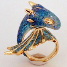 Sapphire Dragon Ring