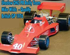 F1 Paper Model - 1976 Brands Hatch GP Shadow DN3 Paper Car Ver.2 Free Template Download
