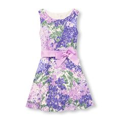 1b49289db5 Girls Sleeveless Floral Belted Lace Dress