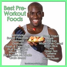 Here's an at a glance guide to some of the best Pre-Workout Foods! PLEASE CLICK THE PIC for my FULL ARTICLE! :D