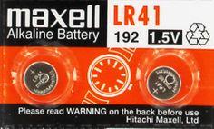 LR 41 Maxell watch battery Alkaline 1.5 V