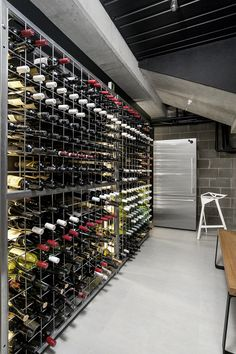 This wine cellar was spotted in a home in Melbourne, Australia.