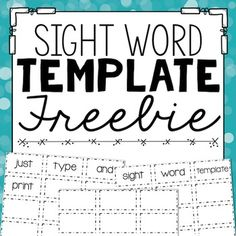 I use this PowerPoint template to record the sight words that individual students are struggling to master.  As they read, I type incorrect or unknown words into the template.  I print them, and within minutes have a custom list of words for students to practice.