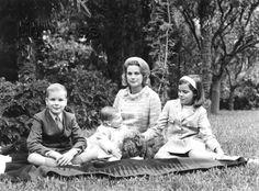 Princess Grace of Monaco, Prince Albert, Princess Caroline and Princess Stephanie, 1967