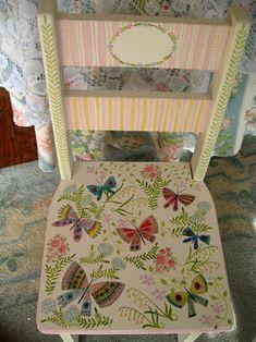 nantucket mermaid | Nantucket Mermaid: Little Hand Painted Chair