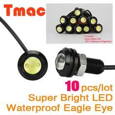 Eagle Eye 10 шт./лот стайлинга Автомобилей 18 мм свет автомобиля Габаритные Огни Дневного Света Водонепроницаемый рабочая DRL Противотуманные Фары лампы Источник