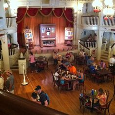 Diamond Horseshoe Jamboree in Frontierland in Walt Disney World. I remember eating here. I don't think it's open anymore. It use to be sponsored by Fritos and they had a show too. Awesome AC!