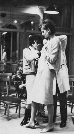 Coco Chanel during one of her infamous inspections.