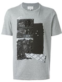 c3a6c8ced23 Maison Margiela Textured Print T-shirt - Farfetch