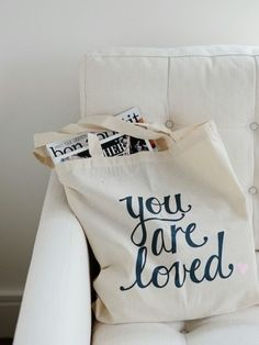 """you are loved"" tote bag"