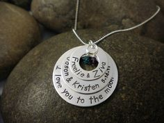 Custom Hand Stamped Sterling Silver 3 Stacked by SayWhatCreations, $64.00