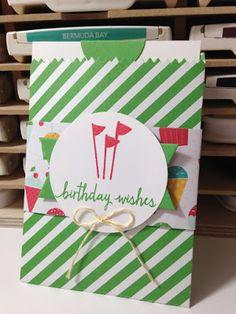 Mini Treat Bag Thinlit Birthday Card