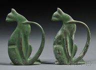 Pair of Art Deco Cat Bookends