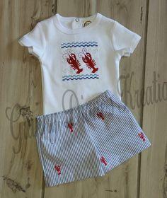 Personalized crawfish shirt bodysuit Handmade by grannydiane