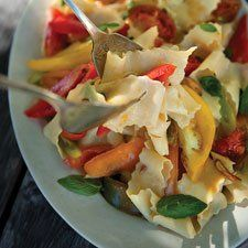 Heirloom Tomato and Fresh Pasta Salad - Celebrate summer's bounty with this light, fresh pasta recipe.