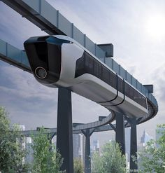 suspended monorail 02 Spaceship and vehicle refs in 2019 Futuristic cars Futuristic Architecture Future transportation Concept Architecture, Futuristic Architecture, Amazing Architecture, Architecture Design, Futuristic City, Futuristic Technology, Futuristic Vehicles, Logo Transport, Design Transport
