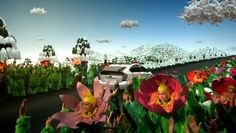 Eye-catching spot showing a planet in harmony, with humanized clouds, fields and flowers bursting into song. Saatchi & Saatchi, Toyota Prius, Planets, Clouds, Cloud