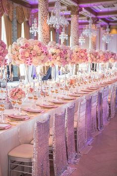 Wedding Designs Wedding Ideas : Long Wedding Tables - Flowers and candlelit - a collection of wedding tables and decoration ideas for your reception. Wedding Reception Decorations, Wedding Themes, Wedding Centerpieces, Wedding Designs, Wedding Venues, Floral Centrepieces, Wedding Favors, Floral Arrangements, Table Decorations