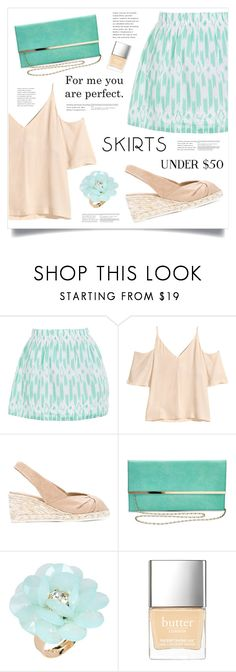 """""""You And I"""" by marina-volaric ❤ liked on Polyvore featuring J.Crew, Castañer, Dettagli, Butter London, under50 and skirtunder50"""