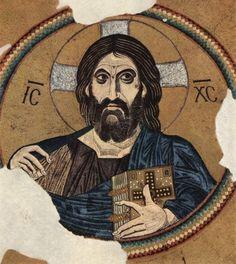 Byzantine dome mosaic of Christ Pantocrator.