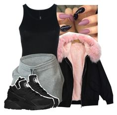 """""""Untitled #2436"""" by kayla77johnson ❤ liked on Polyvore featuring Rick Owens Lilies and NIKE"""