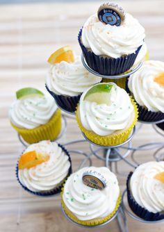 Beer cupcakes! I would use a Warsteiner instead of the Corona and a Hoegaarden instead of the Blue Moon to get an all around better quality of flavor. Plus, it will also ensure you have something you'd actually enjoy drinking while these puppies are baking.