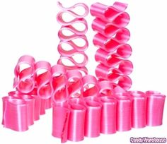 Old Fashioned Thin Ribbon Candy - Pink: Box Great candy webs ite Ribbon Candy, Pink Candy, Swirl Lollipops, Online Candy Store, Thin Ribbon, Wedding Candy, Wedding Sweets, Wedding Favors, Candy Buffet